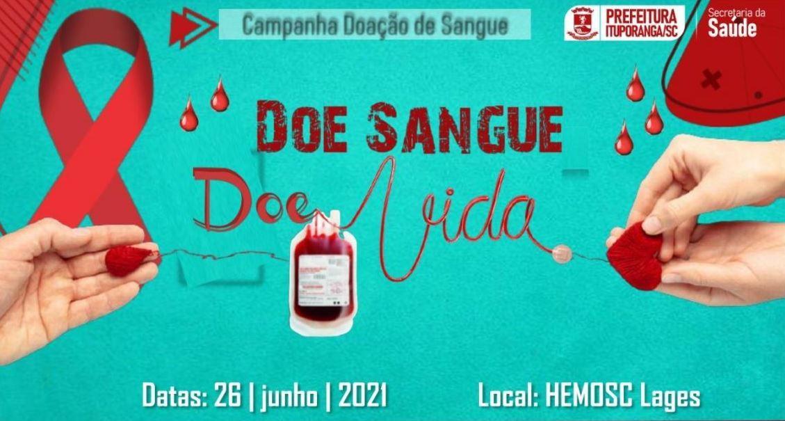 Secretaria de Saúde de Ituporanga organiza mutirão para doação de sangue