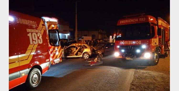 Duas pessoas morrem em acidente na SC-350, em Ituporanga